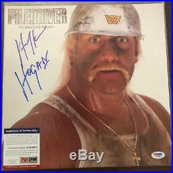 1987 Hulk Hogan Auto Signed PILEDRIVER Album LP Vinyl WWF PSA/DNA Amazing