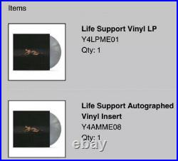 1 of 100! SIGNED Madison Beer Life Support Gray Vinyl Album SOLD OUT! IN HAND