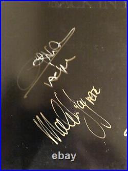 AC/DC Back In Black Framed Album LP Vinyl All 5 Rudd Signed Autographed BAS LOA