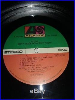 AC/DC Dirty Deeds 5X Signed Autographed Vinyl Record Album LP COA Malcom, Angus