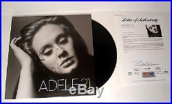 Adele Adkins Signed Autograph 21 Grammy Win Vinyl Record Album Psa/dna Coa