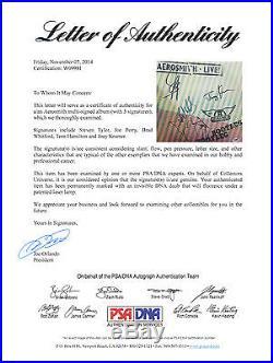 Aerosmith Complete Band Signed Bootleg Live! Vinyl Record Album Psa/dna Coa
