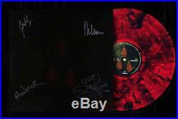 AFI The Blood Album AUTOGRAPHED Red/Black Vinyl Record Amoeba Signing