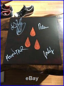 AFI The Blood Album Signed / Autographed Orange Marble Vinyl