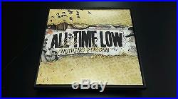 ALL TIME LOW Band Signed + Framed Nothing Personal Vinyl Record Album