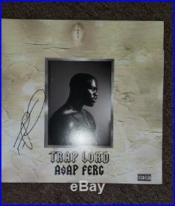 ASAP FERG SIGNED AUTOGRAPHED (TRAP LORD) ALBUM VINYL LP ROCKY with COA RARE