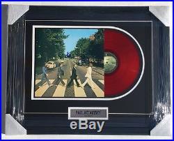 Abbey Road PAUL MCCARTNEY Signed Autographed FRAMED Vinyl ALBUM COA! BEATLES