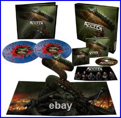Accept Too Mean to Die Blue Red Black Splatter 2 Vinyl LP Signed Fanbox NEU