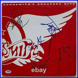 Aerosmith Autographed Vinyl Record Album Signed by 5 greatest hits Tyler PSA COA