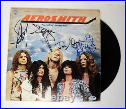 Aerosmith Complete Band Signed Autograph Dream On Vinyl Record Album PSA/DNA COA