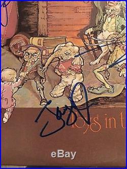 Aerosmith Complete Band Signed Toys InThe Attic Vinyl Lp Record Album nice