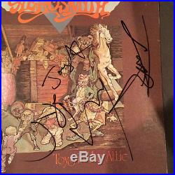 Aerosmith Complete Band Signed Toys In The Attic Vinyl Lp Record Album Flawless