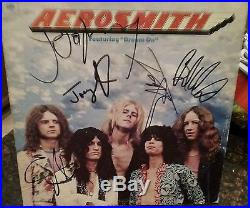Aerosmith FULL Band Signed Self Titled Album LP Vinyl JSA LOA
