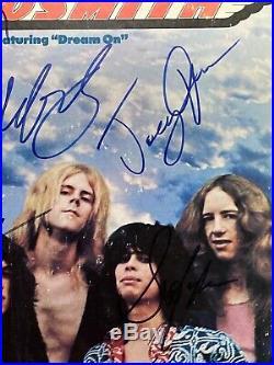 Aerosmith Featuring Dream On Band Signed Vinyl Lp Album