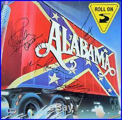 Alabama (4) Owen, Cook, Gentry & Herndon Signed Album Cover With Vinyl BAS #A05095