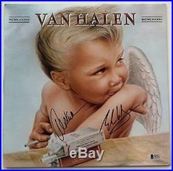 Alex Eddie Van Halen Autographed 1984 Vinyl Record Album signed Beckett BAS COA