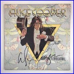 Alice Cooper Signed Autographed Welcome To My Nightmare Vinyl Album PROOF