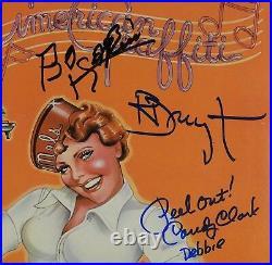 American Graffiti Cast JSA Signed Autograph Record JSA COA Vinyl Album