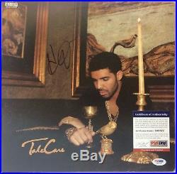 Aubrey Drake Graham Autographed Take Care Record Album Vinyl Signed PSA/DNA COA