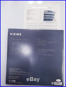 Aubrey Drake Graham Autographed Views Record Album Vinyl Signed JSA LOA RARE