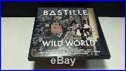 BASTILLE Band SIGNED + FRAMED Wild World Vinyl Record Album DAN SMITH
