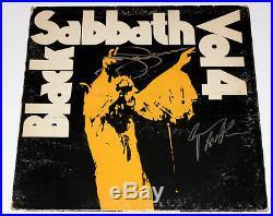 BLACK SABBATH SIGNED AUTHENTIC'VOL 4' ALBUM VINYL RECORD LP withCOA X2 BAND