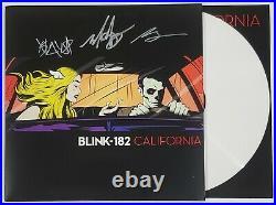 BLINK 182 BAND SIGNED CALIFORNIA LP VINYL ALBUM WithJSA CERT