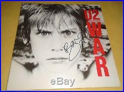 BONO signed U2 autographed WAR record vinyl album! JSA/LOA (Full Letter!)