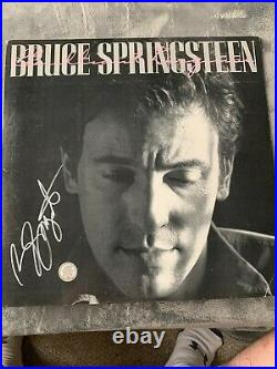 BRUCE SPRINGSTEEN SIGNED ICONIC ALBUM COVER With VINYL COA AUTOGRAPHED
