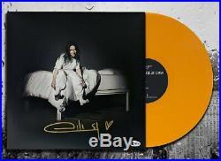 Billie Eilish Signed WHERE DO WE GO Autographed Orange Vinyl Album LP BAS COA