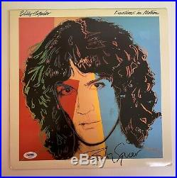 Billy Squire Signed Emotions In Motion Vinyl Record Album LP. PSA/DNA Letter