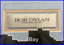 Bob Dylan Signed Vinyl Record Nashville Skyline Album Signed 1969 Est $6KApr Val