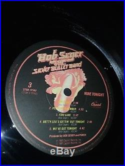 Bob Seger Nine Tonight Signed Autographed Vinyl record album COA