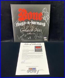 Bone Thugs-N-Harmony Signed Vinyl LP Album Greatest Hits PSA/DNA Autograph