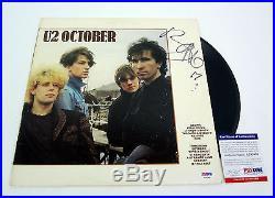 Bono U2 Signed Autograph October Vinyl Record Album Psa/dna Coa