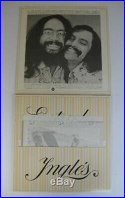 Cheech & Chong signed autographed Big Bambu Vinyl Record, Album, with Paper, Proof