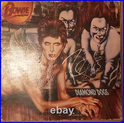 DAVID BOWIE signed vinyl album DIAMOND DOGS