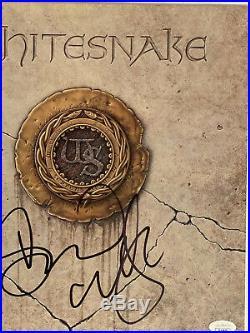 DAVID COVERDALE Signed Autographed WHITESNAKE Vinyl Record LP Album JSA COA