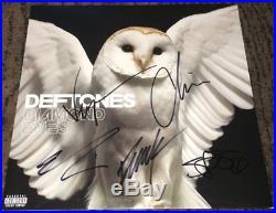 DEFTONES SIGNED AUTOGRAPH DIAMOND EYES VINYL ALBUM CHINO MORENO +4 withEXACT PROOF
