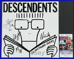 DESCENDENTS BAND SIGNED EVERYTHING SUCKS VINYL LP RECORD ALBUM WithJSA COA MILO