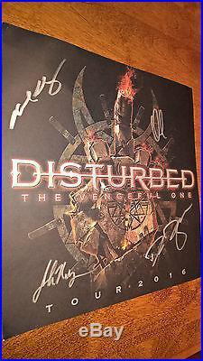 DISTURBED VIP Package Signed poster+Set List, Vinyl album etc