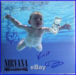 Dave Grohl Krist And Butch Signed Nirvana Nevermind Vinyl Lp Album Dc/coa