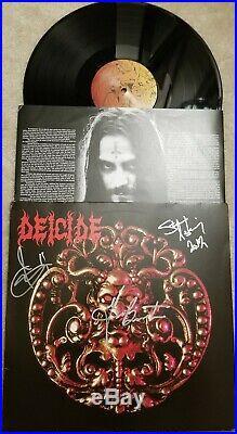 Deicide Rare Signed Vinyl Album. Autographed By 3