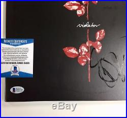 Depeche Mode DAVE GAHAN Signed VIOLATOR Album Vinyl LP autograph Beckett BAS COA