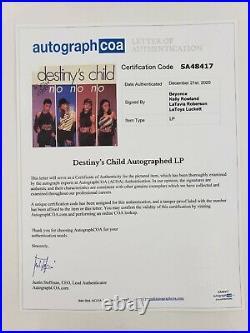 Destiny's Child Very Rare, Fully Signed Vinyl 12 Album. Beyonce Acoa Certified