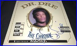 Dr Dre Rapper Hand Signed The Chronic Album Vinyl Autographed COA Proof NWA DD