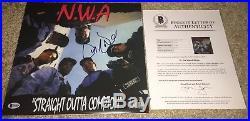 Dr Dre Signed Nwa Straight Outta Compton Vinyl Album Beckett Bas N. W. A. Eazy E