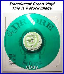 Dr. Dre Signed THE CHRONIC Album with OG 92 Cover GREEN Vinyl EXACT Proof BAS LP