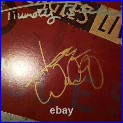EAGLES signed vinyl album LIVE by 5 Artists