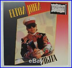 ELTON JOHN Signed Autograph Nikita Album Record Vinyl LP